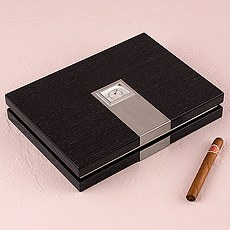 Premium Cigar Humidor with Hygrometer and Humidifier