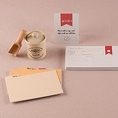 """""""Recipes of the Heart"""" Recipe Cards and Divider Set"""