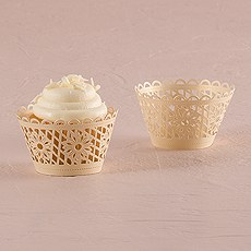 Floral Art Deco Filigree Paper Cupcake Wrappers