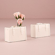 Miniature Porcelain Luggage Vase