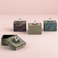 Decorative Vintage Boxes with Ornamental Pulls