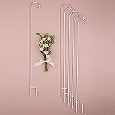 Decorating Metal Shepherd Hooks - White