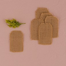 Natural Burlap DIY Shipping Tag Shapes