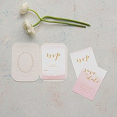 Embossed Pearls and Lace with Aqueous Personalization - Accessory Cards