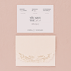 Floral Elegance Laser Embossed Accessory Card with Classic Script Personalization