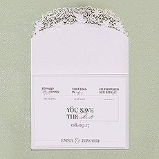 Floral Elegance Laser Embossed Accessory Card with Classic Script Personalisation
