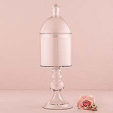 Decorative Pedestaled Apothecary Jar with Straight Sided Bowl