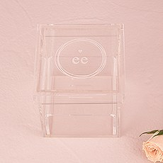 Monogram Simplicity Personalized Unique Alternative Acrylic Wedding Ring Box