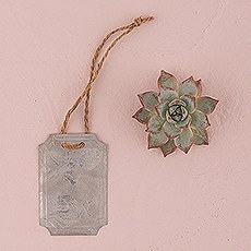 Rectangular Tin Tags with Jute Hangers