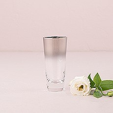 Shot Glass Favour Gift with Silver Ombre Fade