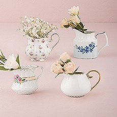 Vintage Creamer Assortment Favor Vase Set