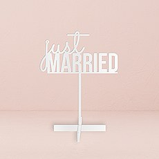Just Married Acrylic Sign - White