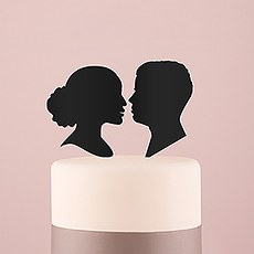 Sweet Silhouettes Acrylic Cake Topper - Black