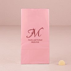 Decorative Initial Self-Standing Paper Goodie Bag