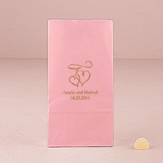 Double Hearts Self-Standing Paper Goodie Bag