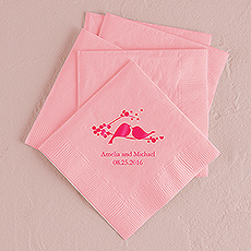 Love Birds Printed Napkins