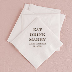Eat Drink Marry Printed Napkins