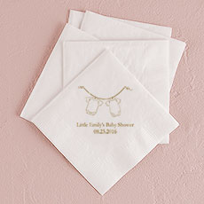 Hanging Baby Clothes Printed Napkins