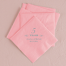 5 Years Printed Napkins
