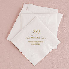 30 Years Printed Napkins