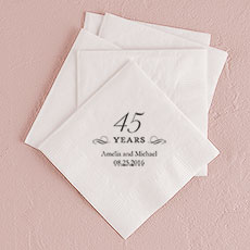 45 Years Printed Napkins