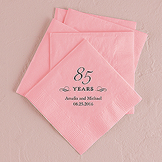 85 Years Printed Napkins