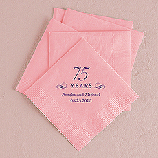 75 Years Printed Napkins