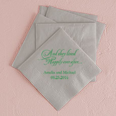 Happily Ever After Printed Napkins