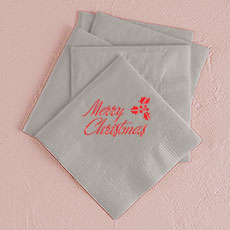Merry Christmas Printed Napkins