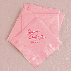 Season's Greetings Printed Napkins