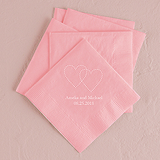 Dashed Hearts Printed Napkins