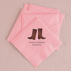 Western Boots Printed Napkins