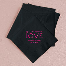 All You Need is Love. Printed Napkins