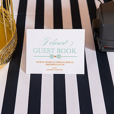 Glitz and Glam Folded Table Sign