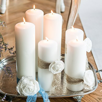 Round Pillar Candles - Large
