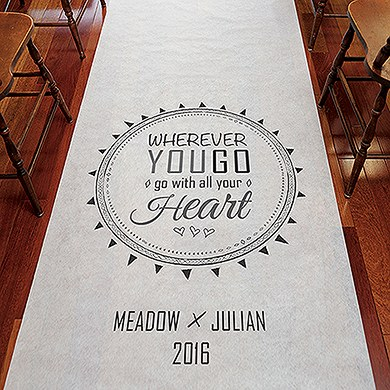 Free Spirit Personalized Aisle Runner