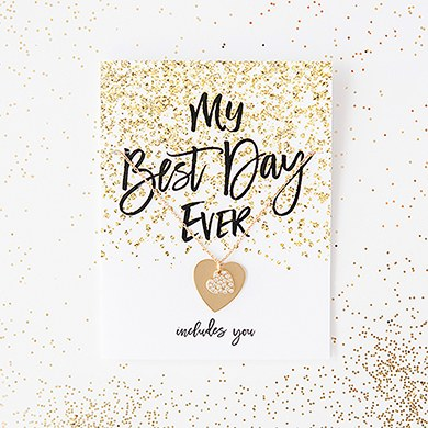 Sparkle Thank You Card With Fold