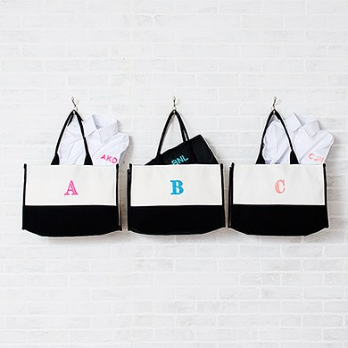 Colorblock Tote Black