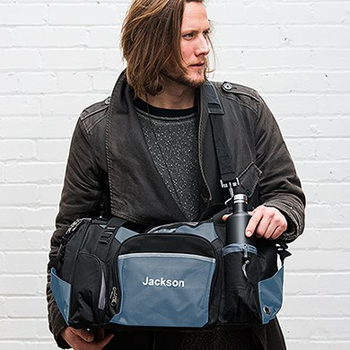 Exploration Duffle Bag Black And Blue