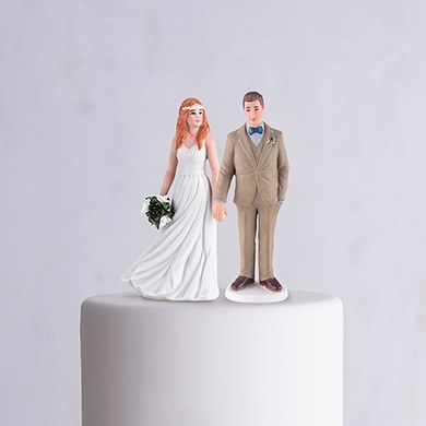 Trendy Bride Porcelain Figurine Wedding Cake Topper