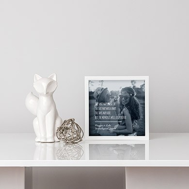 Shadow Box Photo Frame   Beach Memories Etching