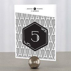 Black and Gold Opulence Table Number