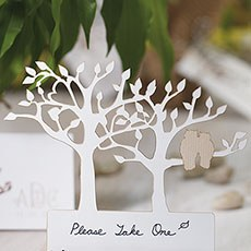 Laser Expressions Tree Silhouette With Owls Die Cut Card - White