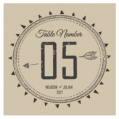 Free Spirit Square Table Numbers