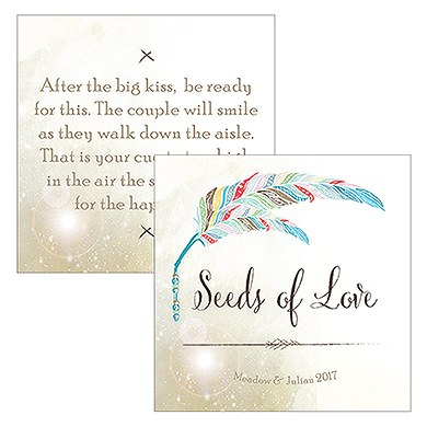 Feather Whimsy Square Favor Tag
