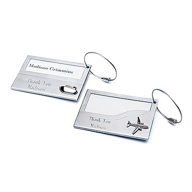 Wedding Favor and Gift Stainless Iron Luggage Tags Set