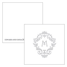 Monogram Simplicity Square Favor Tag - Classic Filigree