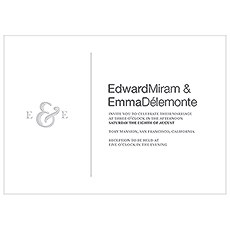 Monogram Simplicity Invitation - Simple Ampersand
