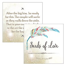 Feather Whimsy Open Format Square Favor Tag