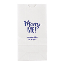 Marry Me! Block Bottom Gusset Paper Goodie Bags